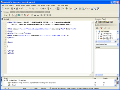 MAX's HTML Beauty++ 2004 Screenshot